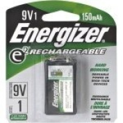 Energizer 9V Rechargeable NiMH Battery Retail Pack, 150mAh - Single