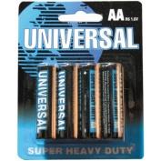Universal Battery AA Super Heavy-Duty Batteries - 4-pk