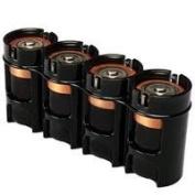 "Storacell by Powerpax Slim Line ""D10cm Battery Caddy, Black - Holds 10cm D"" Batteries"