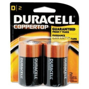 CopperTop Alkaline Batteries with Duralock Power Preserve Technology, D, 2/Pack