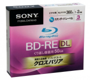 Sony Blu-ray Disc 3 Pack - 50GB 2x Speed BD-RE DL Rewritable Version 2.1
