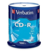 Verbatim 52x CD-R Media,700MB - 120mm Standard - 100 Pack Spindle