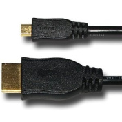 Amzer Micro HDMI High Speed Male to HDMI Male Cable for HTC EVO 4G - 1.5m