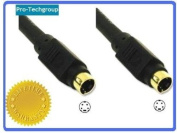 Pro-Techgroup 7.6m Premium Grade Gold Series S-Video SVHS Mini-Din 4-pin UL Listed Premium shielded cable
