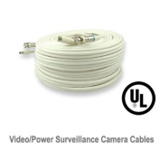 UL Listed 30m Video Power Cables Security Camera Extension Wires Cords with Free BNC RCA Connectors for CCTV DVR Home Surveillance System