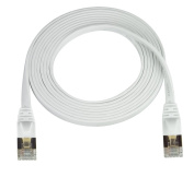 Super Flat CAT7 Ethernet Cable, White, 15m, 0.2cm Thick