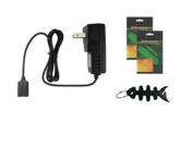 iShoppingdeals - Home/Wall AC Charger+Screen Protector+Fishbone Keychain for Sony Bloggie Touch (MHS-TS20/MHS-TS10) 4GB 8GB
