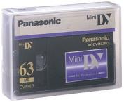Panasonic AY DVM63PQ - Professional Quality - Mini DV tape - 50 x 63min