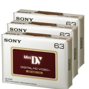 Sony DVC HD 63 Minute Videocassette - 3 Pack