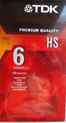 TDK Premium Quality VHS T-120 HS Pack of 6