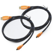 yoga_Style 2 pack 1.5m Micro-HDMI to HDMI Cable with Nylon Net for Ethernet - 3D and 4K Resolution Ready Orange