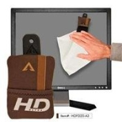 Alpine Innovations Large Microfiber HD Cleaning Cloth 30cm x 30cm for TVs and Computer Monitors with Attaching Hook