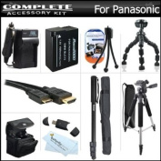 Advanced Accessory Kit For Panasonic Lumix DMC-FZ200, DMC-G5, DMC-GH2 Digital Camera Includes Extended (1500mAh) Replacement DMW-BLC12 Battery + Ac/Dc Travel Charger + Deluxe Case + Mini HDMI Cable + 57 Tripod + 67 Monopod + Remote Shutter Release +More