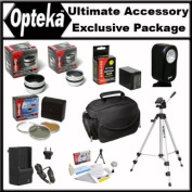 Ultimate Accessory Package For The Sony DCR-SR68 DCR-SR88 Sony HDR-CX110 CX150 CX300 CX350 CX500v CX550v XR150 XR350V XR550V Package Includes extended Life 5 Hour FV100 Battery, 1 Hour AC/DC Charger, Wide Angle Lens, 2X Telephoto Lens, 3 Piece filter ..
