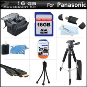 16GB Accessory Kit For Panasonic HDC-TM90K 3D Compatible Camcorder Includes 16GB High Speed SD Memory Card + 57 Full Size Tripod w/ Case + Deluxe Case + Mini HDMI Cable + LCD Screen Protectors + USB 2.0 SD Card Reader + MicroFiber Cleaning Cloth + More