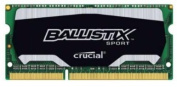 Crucial Ballistix Sport SODIMM 8GB Single DDR3 1866 MT/s (PC3-12800) CL10 @1.35V 204-Pin Memory BLS8G3N18AES4