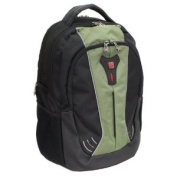 SwissGear THE JUPITER 41cm Laptop Computer Backpack Green Black NWT