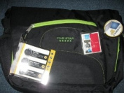 Mead Five Star Sidekick Laptop Computer Notebook Bag Backpack Black and Green 50371