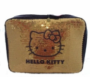 Hello Kitty Gold & Purple Sequinned Covered padded Netbook / Laptop Sleeve