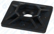 10 4-Way Cable Tie Mounts With Adhesive Back