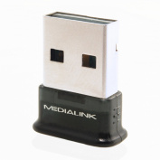 Medialink USB Bluetooth Adapter - Version 4.0 (Newest Available) Class 2 Smart Ready Adapter with Low Energy Technology - Compatible with Windows 8 / Windows 7 / Windows Vista / Windows XP
