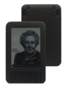 iShoppingdeals - for Amazon Kindle 3 WiFi 3G Reader Black Textured Silicone Skin Case Cover and Screen Protector