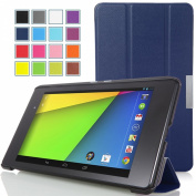 MoKo Google New Nexus 7 FHD 2nd Gen Case - Ultra Slim Lightweight Smart-shell Stand Case INDIGO
