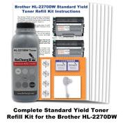for Brother HL-2270dw Starter Cartridge Toner Refill Kit