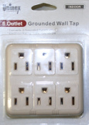 Uninex 6 Outlet Grounded Wall Tap