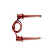 Pomona 3781-12-2 Minigrabber Patch Cord, Red, 30cm