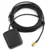 RHX 28dB LNA Gain 1575.42MHz RP-SMA Male GPS Active Antenna Aerial Connector Cable