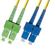 1M Singlemode Duplex Fibre Optic Cable (9/125) - SC /APC to SC /UPC