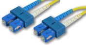 Lynn Electronics SCSCDUPSM-2M 9/125 Yellow Duplex Single-Mode Fibre Optic Patch Cable, SC-SC, 2 Metres in Length Yellow
