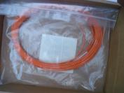 15M Multimode Duplex Fibre Optic Cable (50/125) - LC to LC