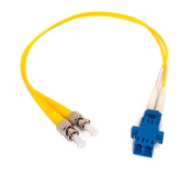 0.3m Fibre Optic Adapter Cable LC (Female) to ST (Male) Singlemode 9/125 Duplex