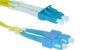 Offex Wholesale LC / SC, Singlemode, Duplex Fibre Optic Cable, 9/125, 30 Metre