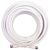 Cable N Wirelessf 30m Low Loss RG6 Coaxial Digital Audio Video Patch Cable White, F Pin to F Pin Coax Extension UL