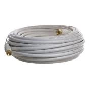 Cable N Wirelessf 15m Low Loss RG6 Coaxial Digital Audio Video Patch Cable White, F Pin to F Pin Coax Extension UL