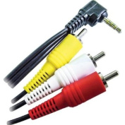 CALRAD Electronics 3.5MM R/A PLUG TO 3RCAS 1.8mAUDIO & VIDEO CABLE