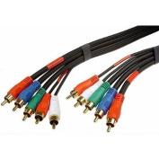 15m 15m Premium GOLD Series Component/Composite 5-RCA M/M Cable