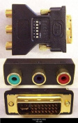 DVI-I Male to 3 RCA component Adapter for ATI Video Cards DVI-M-3RCA-F