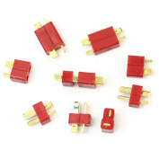 RHX 10 Pair Deans Style RC Lipo Battery Helicopter T Plug Connectors Male + Female