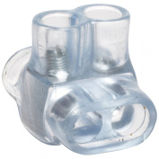Morris Products 97312 Multi-Cable Connector, Insulated, Dual Entry, Clear, 2 Ports, 4 - 14 Wire Range