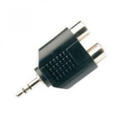Wired-Up 3.5mm Stereo Jack Plug To 2 X RCA Phono Sockets