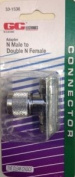 """GC Electronics 33-1536 N Male to Double N Female """"T"""" Adapter"""