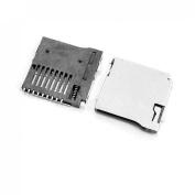 Gino 5 Pcs Spring Loaded Push/Push Micro SD Transflash Memory Card Socket Slot