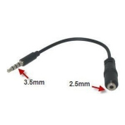 3.5mm (Male) to 2.5mm (Female) Headset Adapter for Motorola Droid Pro A957