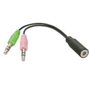 Earphone & Mic Headset to PC Adapter Cable