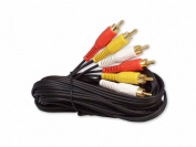 Your Cable Store 12 Foot RCA Audio / Video Cable 3 Male To 3 Male