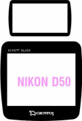 Giottos Aegis 49.5 x 47.5mm Professional Glass LCD Screen Protector for the Nikon D50, 12 Layers of Multi-Coatings Each Side.